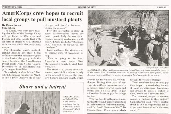 Image of newspaper article scanned in. Full text provided below